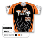 ZBA22-1207 Custom Sublimated Crew Neck Baseball Jersey