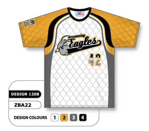 ZBA22-1208 Custom Sublimated Crew Neck Baseball Jersey