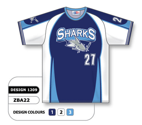 ZSB22-1209 Custom Sublimated Crew Neck Softball Jersey