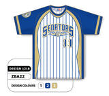 ZBA22-1218 Custom Sublimated Crew Neck Baseball Jersey