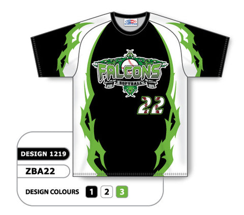 ZSB22-1219 Custom Sublimated Crew Neck Softball Jersey