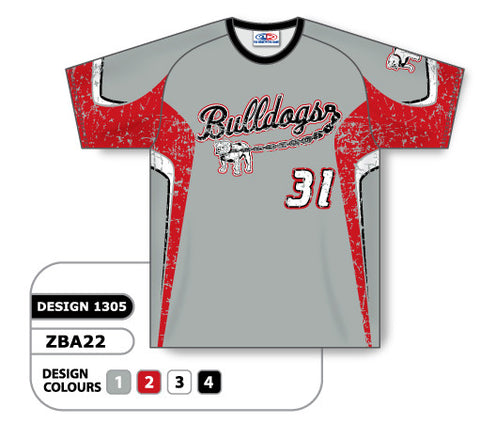 ZBA22-1305 Custom Sublimated Crew Neck Baseball Jersey