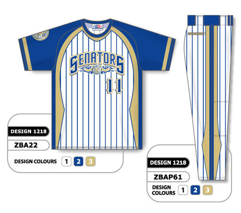 ZBA22S-1218 Custom Sublimated Matching Baseball Uniform Set