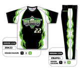 ZBA22S-1219 Custom Sublimated Matching Baseball Uniform Set