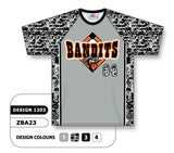 ZBA23-1203 Custom Sublimated Crew Neck Baseball Jersey
