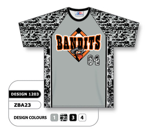ZSB23-1203 Custom Sublimated Crew Neck Softball Jersey