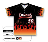 ZBA32-1016 Custom Sublimated Two-Button Baseball Jersey