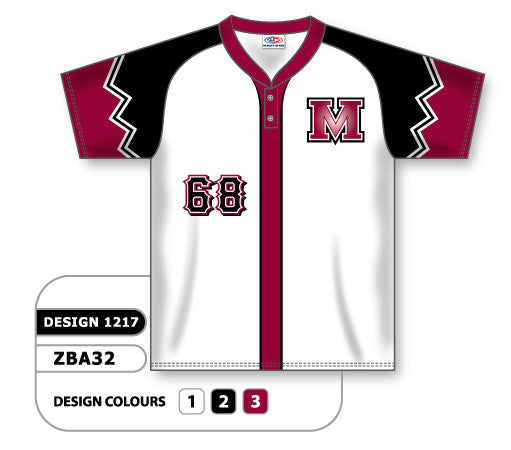 2b022e65e ZBA32-1217 Custom Sublimated Two-Button Baseball Jersey · Dye Sublimation  Color Selection