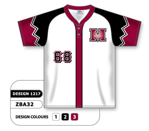ZBA32-1217 Custom Sublimated Two-Button Baseball Jersey
