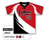 ZBA52-1118 Custom Sublimated One-Button Pro Placket Baseball Jersey