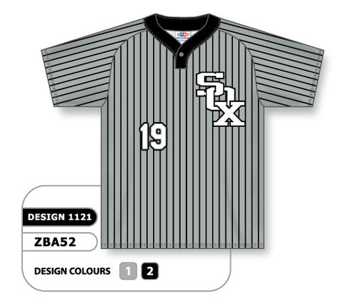 ZBA52-1121 Custom Sublimated One-Button Pro Placket Baseball Jersey