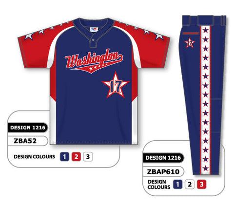 ZBA52S-1216 Custom Sublimated Matching Baseball Uniform Set