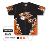 ZBA71-0908 Custom Sublimated Full Button Baseball Jersey