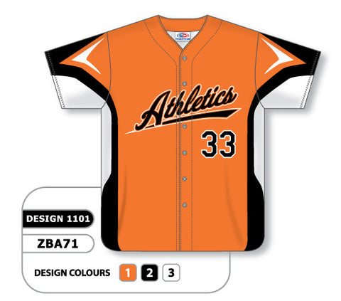 ZBA71-1101 Custom Sublimated Full Button Baseball Jersey