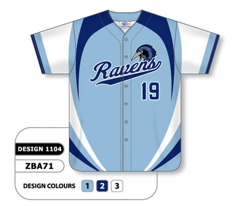 ZBA71-1104 Custom Sublimated Full Button Baseball Jersey