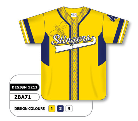 Custom Sublimated Full Button Baseball Jersey Design 1211
