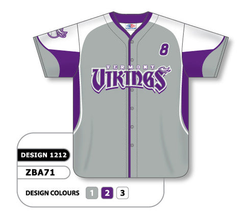 Custom Sublimated Full Button Baseball Jersey Design 1212