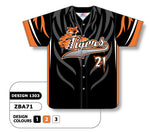 ZBA71-1303 Custom Sublimated Full Button Baseball Jersey