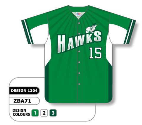 ZBA71-1304 Custom Sublimated Full Button Baseball Jersey