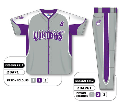ZBA71S-1212 Custom Sublimated Matching Baseball Uniform Set