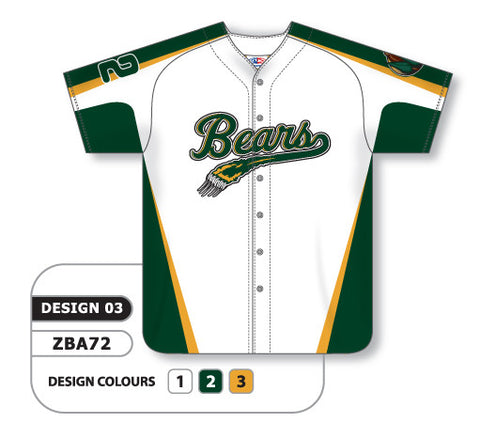 ZBA72-0903 Custom Sublimated Full Button Baseball Jersey