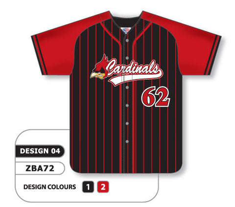 ZBA72-0904 Custom Sublimated Full Button Baseball Jersey