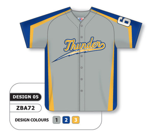 ZBA72-0905 Custom Sublimated Full Button Baseball Jersey