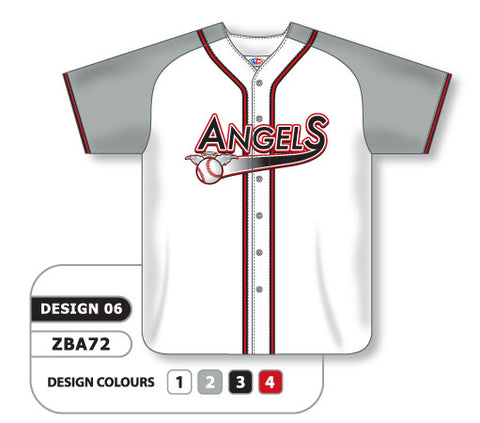 ZBA72-0906 Custom Sublimated Full Button Baseball Jersey