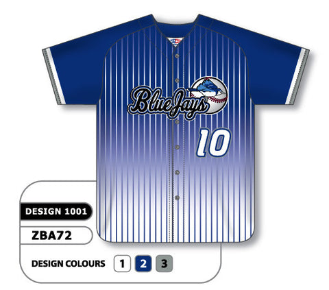 ZBA72-1001 Custom Sublimated Full Button Baseball Jersey