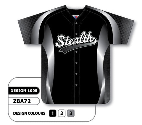 ZBA72-1005 Custom Sublimated Full Button Baseball Jersey