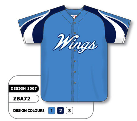 ZBA72-1007 Custom Sublimated Full Button Baseball Jersey