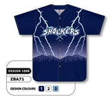 ZBA72-1008 Custom Sublimated Full Button Baseball Jersey