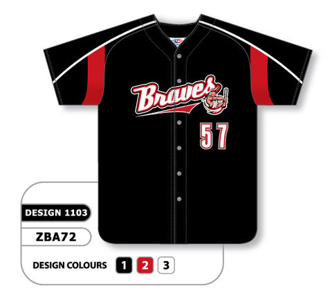 ZBA72-1103 Custom Sublimated Full Button Baseball Jersey
