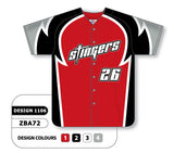 ZBA72-1106 Custom Sublimated Full Button Baseball Jersey