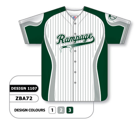 ZBA72-1107 Custom Sublimated Full Button Baseball Jersey