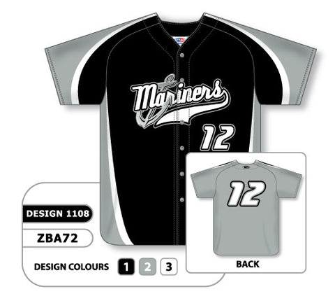ZBA72-1108 Custom Sublimated Full Button Baseball Jersey