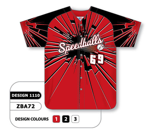 ZBA72-1110 Custom Sublimated Full Button Baseball Jersey