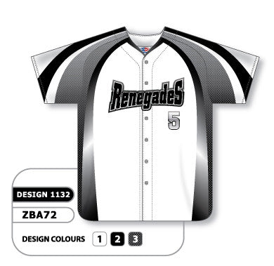 Custom Sublimated Full Button Baseball Jersey Design 1132