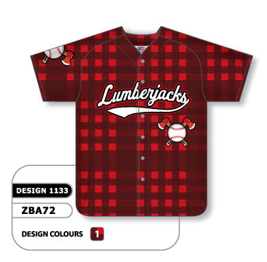 Custom Sublimated Full Button Baseball Jersey Design 1133