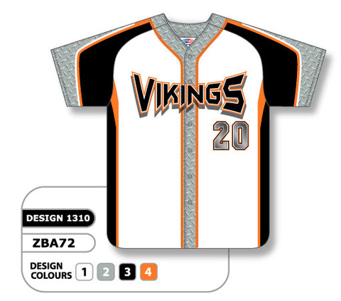 ZBA72-1310 Custom Sublimated Full Button Baseball Jersey