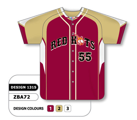 ZBA72-1315 Custom Sublimated Ladies Full Button Short Sleeve Softball Jersey