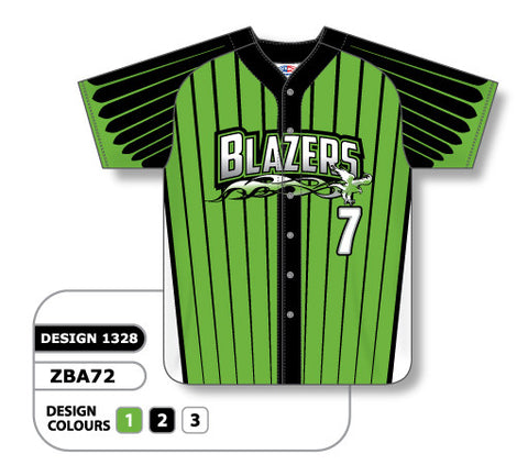 ZBA72-1328 Custom Sublimated Ladies Full Button Short Sleeve Softball Jersey