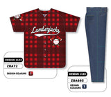 ZBA72S-1133 Custom Sublimated Matching Baseball Uniform Set