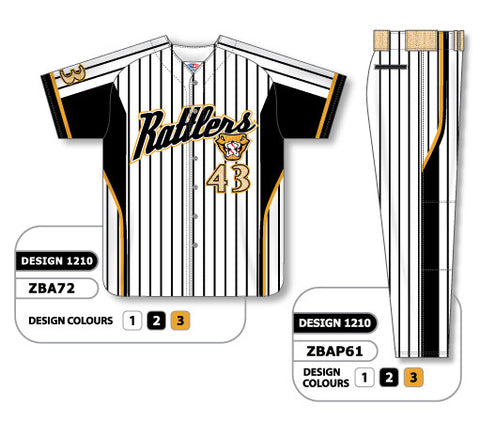 ZBA72S-1210 Custom Sublimated Matching Baseball Uniform Set