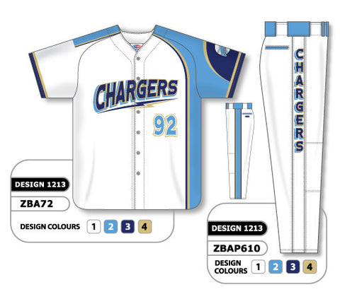 ZBA72S-1213 Custom Sublimated Matching Baseball Uniform Set