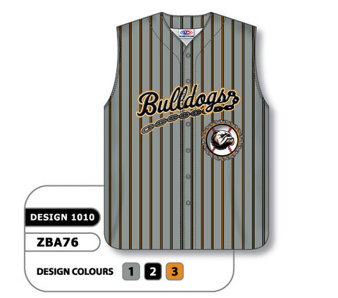 ZSB76-1010 Custom Sublimated Full Button Sleeveless Softball Jersey