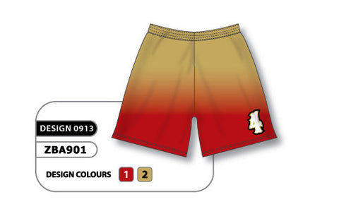 ZBA901-0913 Custom Sublimated Ladies Softball Short