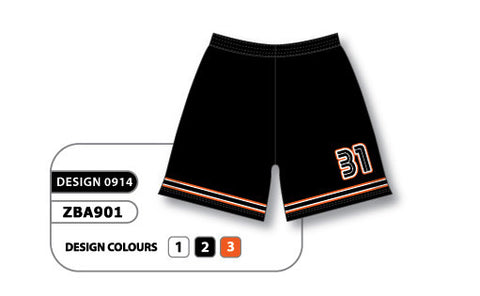 ZBA901-0914 Custom Sublimated Ladies Softball Short