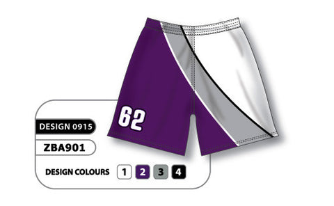 ZBA901-0915 Custom Sublimated Ladies Softball Short