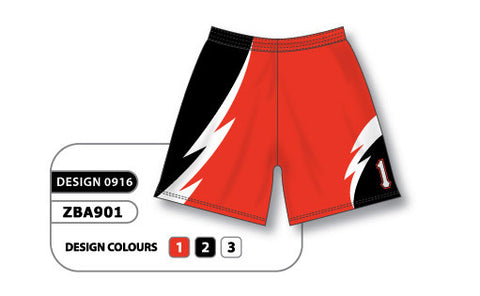 ZBA901-0916 Custom Sublimated Ladies Softball Short
